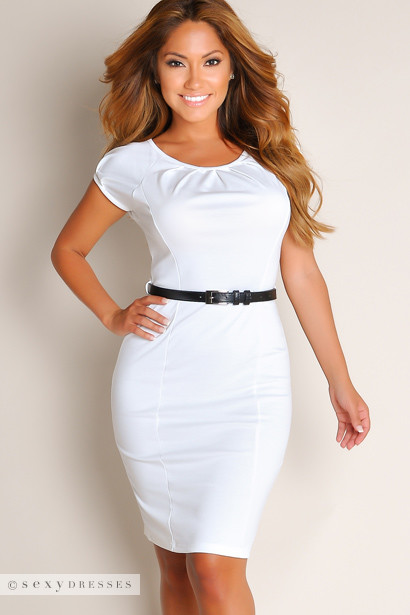All White Cocktail Dresses