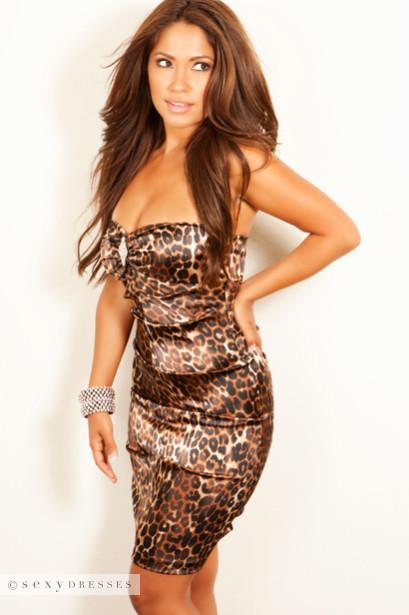 ae733fc364 Sexy Dress Satin Animal Cheetah Print - Party Dresses