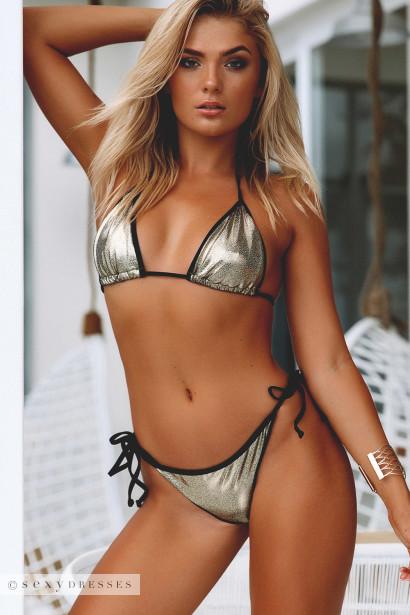 26babd45e7 Laguna Cosmic Gold   Black Classic Bikini Top   Panama Cosmic Gold   Black Classic  Bikini Bottom