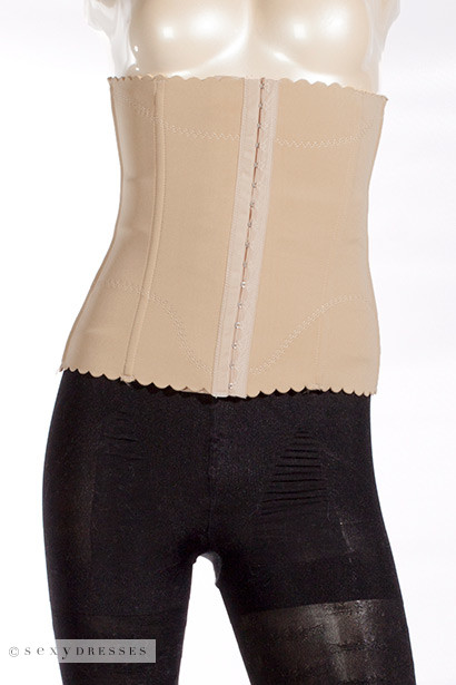 Beige Waist Trainer and Cincher Body Shaper Undergarment