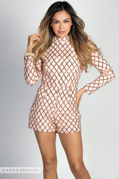 51f21399292 Sequin romper with long sleeves nwt jpg 410x615 Sequin romper with long  sleeves nwt