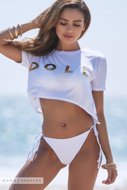 White DOLL Crop Top