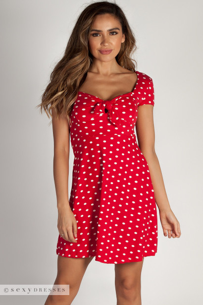 """""""Better Now"""" Red Polka Dot Skater Dress"""