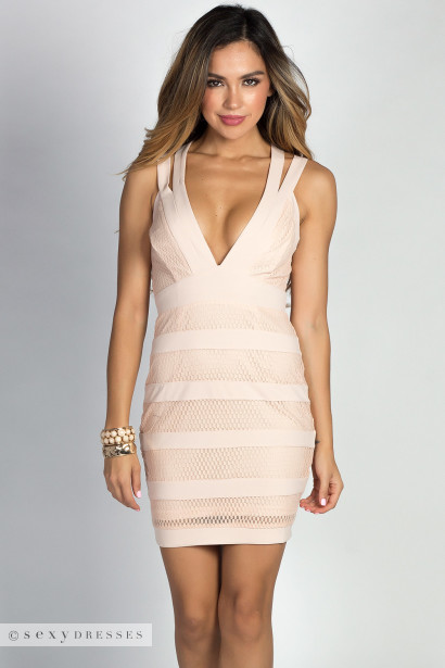 Mesh Cocktail Dress