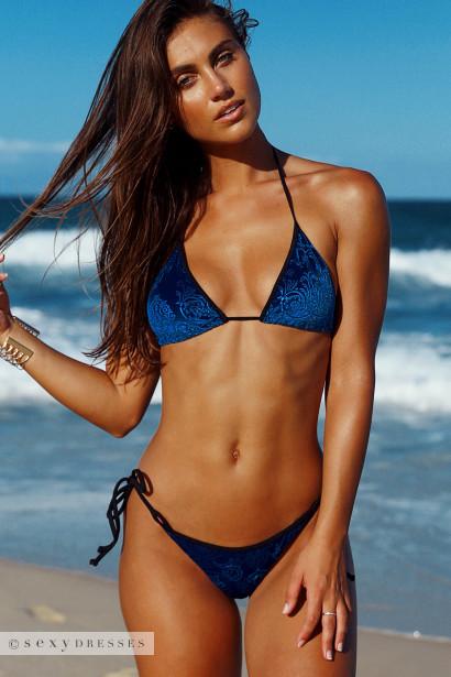 4be99ae201 Laguna Classic Royalty Blue Velvet   Black Bikini Top   Panama Classic  Royalty Blue Velvet   Black Bikini Bottom