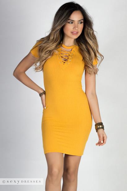 Yellow Bodycon Dresses