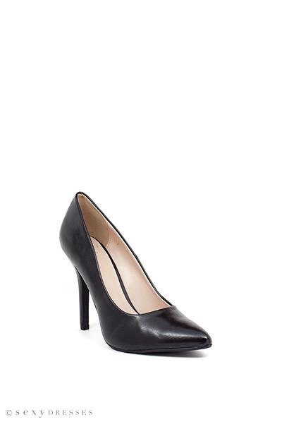 """Boss Lady"" 4"" Black Womens High Heel Pumps"