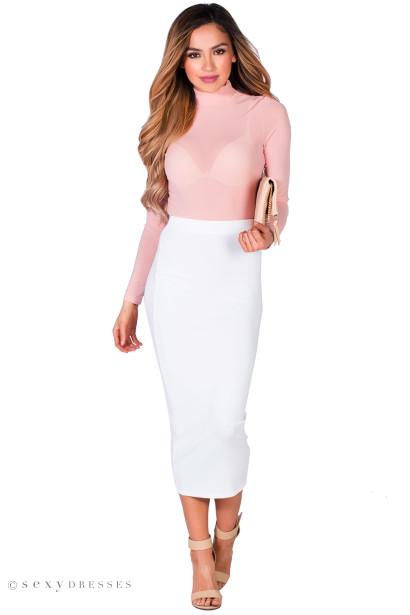 High Waisted Midi Pencil Skirt | Jill Dress