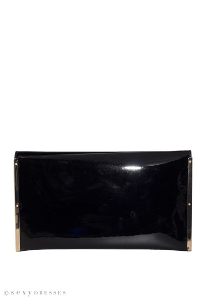 Black Patent Leather Essential Clutch
