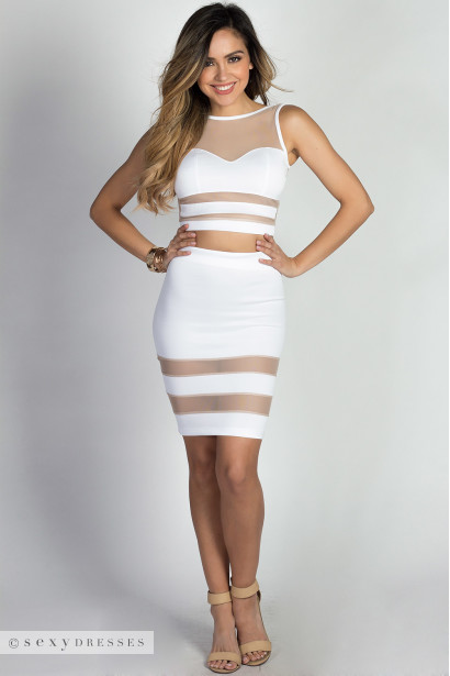 Zara white nude sheer mesh two piece dress zara white nude sheer mesh two piece dress mightylinksfo