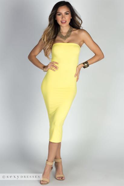 Strapless Yellow Dresses – Fashion dresses