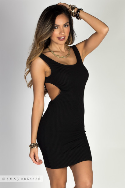 Black Knit Tank Dress