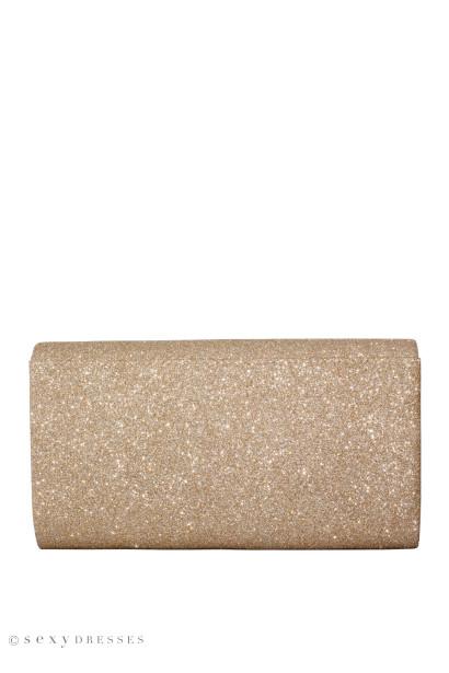 Champagne Shimmer Envelope Clutch