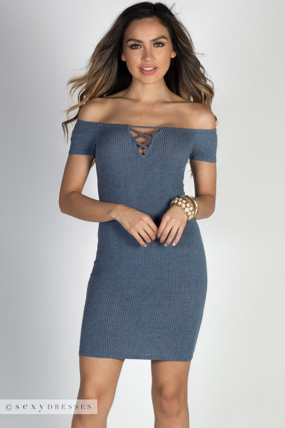 Shoulder Cut Out Dresses
