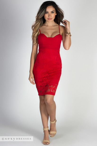 Red Bodycon Cocktail Dress