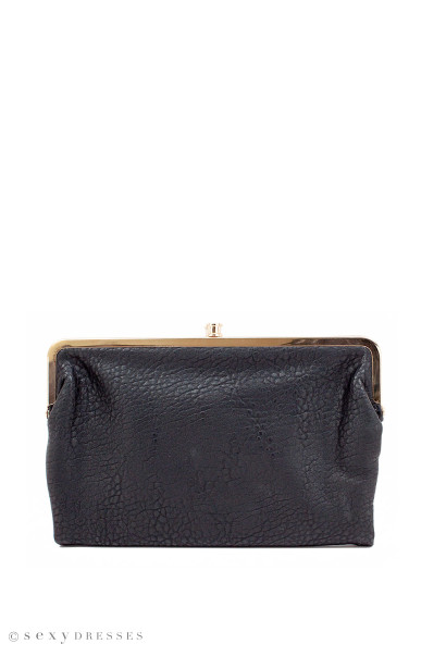 """Love Story"" Black Vegan Wallet Clutch Handbag"