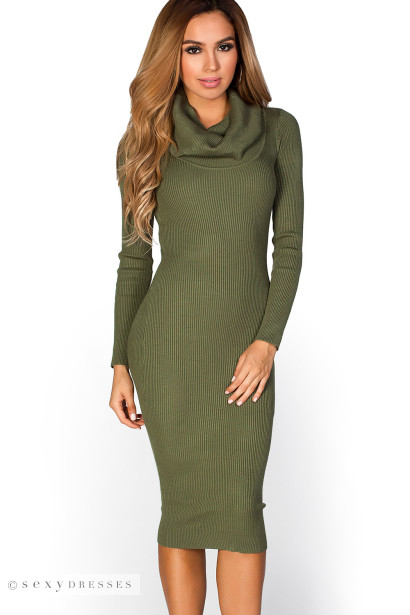 Long bodycon sweater dress