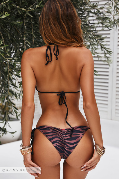 Bronze Tiger Triangle Top & Bronze Tiger Classic Scrunch Bottom