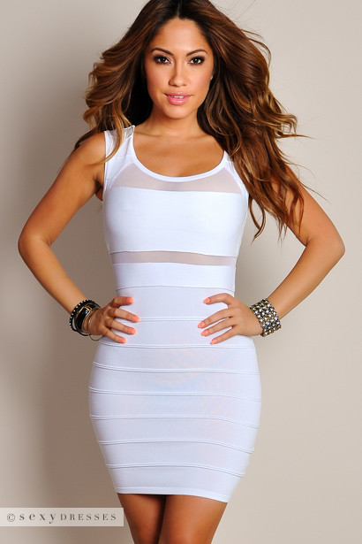 Exact Sexy white cut out dresses was specially