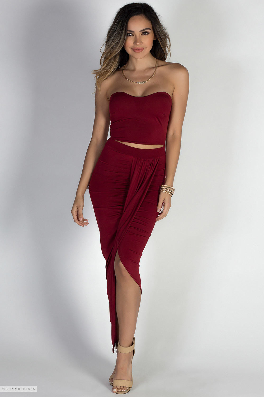 Strapless Red Dresses
