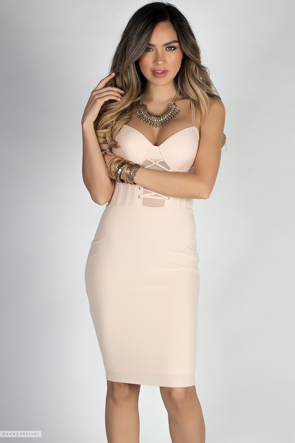 Adore me nude lace up bustier cocktail dress adore me nude lace up bustier cocktail dress ombrellifo Choice Image