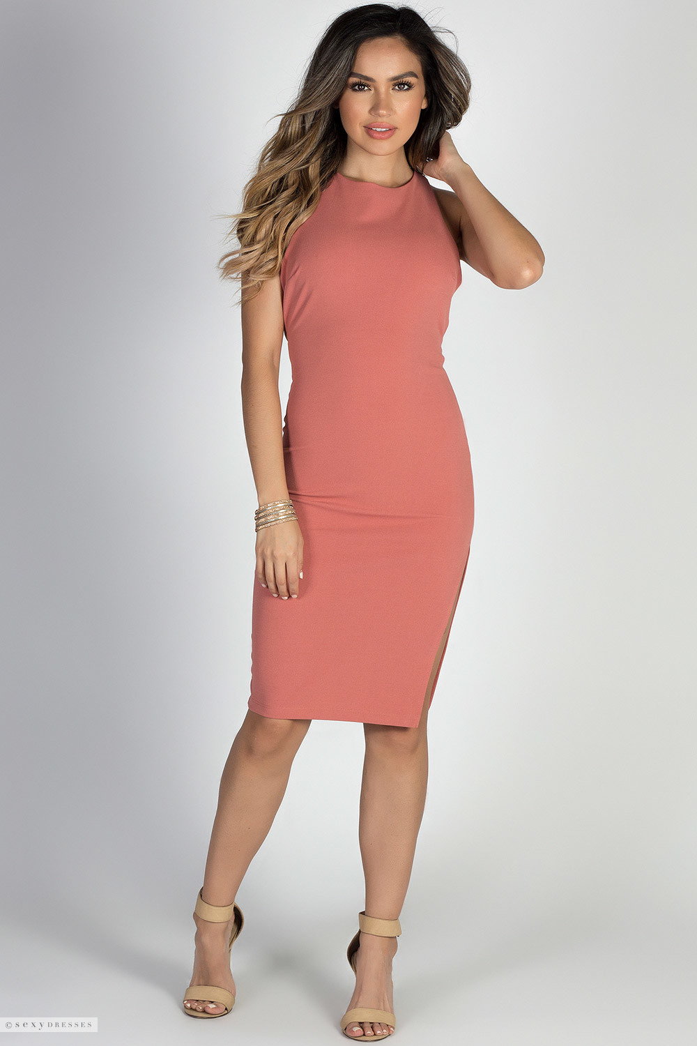 Game of love dusty coral open back bodycon midi cocktail dress game of love dusty coral open back bodycon midi cocktail dress ombrellifo Choice Image