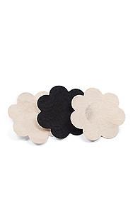 3-Pack Beige and Black Breast Petals Adhesive Nipple Covers