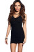 """Callie"" Black V Neck Bodycon Tank Mini Dress"