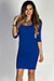 """""""Dylan"""" Royal Blue 3/4 Sleeve Cute and Casual Bodycon Dress"""