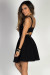 """""""Girl Code"""" Black Scoop Neck Sleeveless Cut Out Party Dress"""