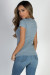 """""""Alana"""" Blue  Fitted V Neck Tee"""