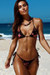 Laguna Pink Floral Velvet & Black Classic Bikini Top & Venice Pink Floral Velvet & Black Mid Rise Classic Bikini Bottoms