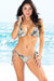 Santorini Ivory Animal Print Triangle Bikini Top & Sexy Thong Bikini