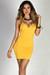 """""""Scarlett"""" Yellow V Neck Strappy Backless Dress"""