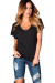 """Kelly"" Black Super Soft Oversized Ladies V Neck T Shirt"