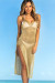 Millionaire Metallic Gold Maxi Cover Up Dress