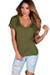 """""""Kelly"""" Avocado Green Super Soft Oversized Ladies V Neck T Shirt"""