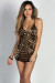 """Serendipity"" Gold Sequin Diamond Pattern Strappy Mini Dress"