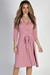 """Well Dressed"" Blush 3/4 Sleeve A Line Wrap Dress"