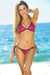 Vegas Fuchsia & Black Triangle Top Single Rise Scrunch Bun® Sexy Sequin Bikini