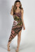 """Towards the Sun"" Olive Paisley Thigh High Slit Midi Dress"