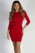 """Can't Believe it"" Red Glittered Open Strappy Back Dress"