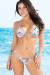 Santorini Blue Hawaii Print Triangle Bikini Top & Sexy Thong Bikini