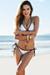 White & Black Fixed Triangle Top & Classic Scrunch Bikini Bottom