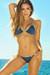 Nashville Navy & Gold Two-Tone Triangle Top Classic Scrunch Bikini