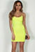 """All Or Nothing"" Neon Yellow Spaghetti Strap Mini Dress"