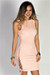 """""""Love Yourself"""" Pink Ribbed Knit Lace Up Detail Open Back Sleeveless Dress"""