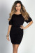 """Hannah"" Black Dolman Sleeve Ruched Jersey Dress"