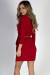 """Brooke"" Red Faux Wrap Dress with Sleeves"