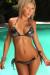 Houston Sexy Chrome Triangle Top Single Rise Open Ring Metallic Scrunch Bikini